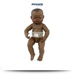 Newborn African Baby Boy Doll With Navel