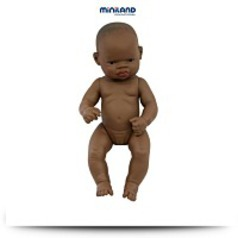 Newborn African Girl Baby Doll