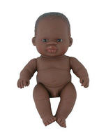 Newborn African Boy Baby Doll